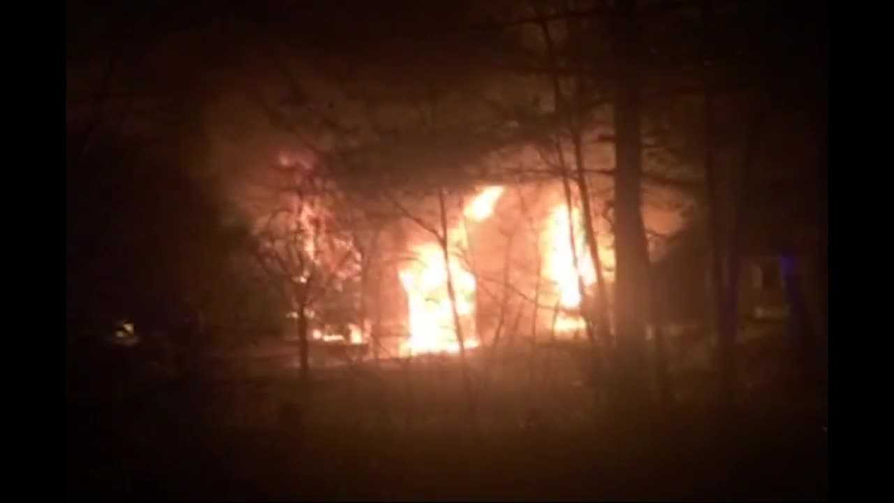 A man and a woman were taken to the hospital after a fire erupted in their Norfolk home.