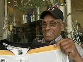 Willie O'Ree became the first Black hockey player in the National Hockey League when he joined the Boston Bruins in 1957.