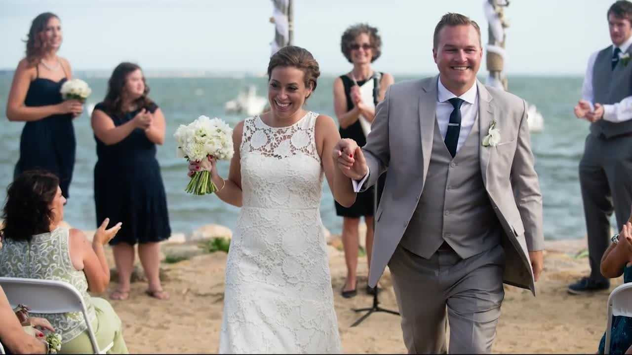 For the new Mrs. Jill Hadad Hawkins and her husband, John, their wedding photos from last September show the best of times -- and the worst.