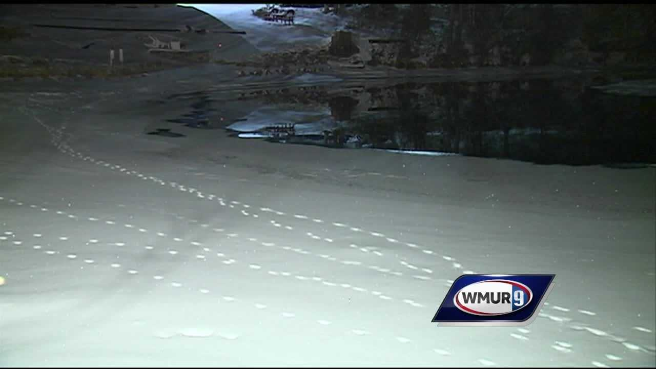 A man is missing after falling through the ice at Pequawket Pond.