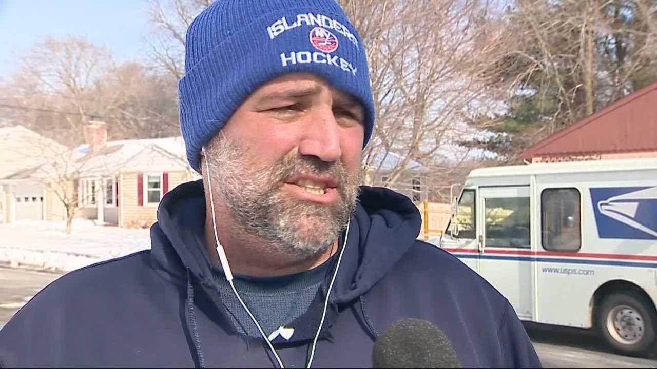 Alert postal worker helps save man's life