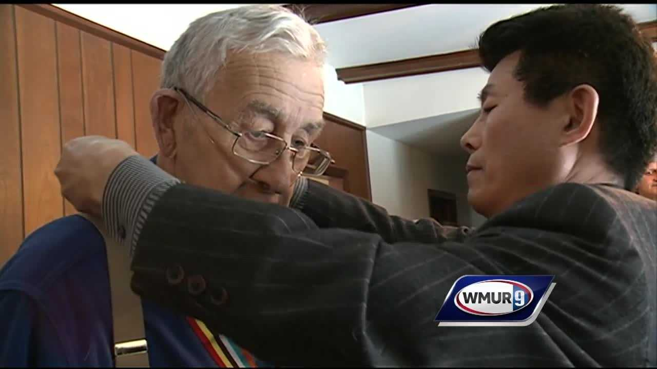 A Korean War veteran from Goffstown was given a special honor Monday, decades after serving on the front lines.