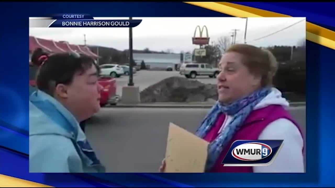 A Maine family witnessed an alleged panhandling scheme in Topsham, Maine, and took a stand.