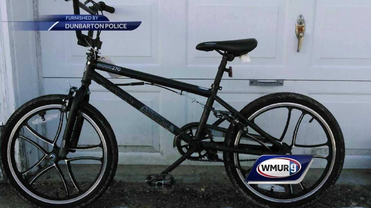 Dunbarton police and the boy's mother have no idea how the bike ended up on the opposite coast.