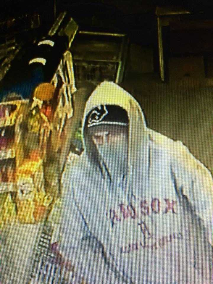 Police said the masked man entered Kev's Kwik Mart on Main Street at 9:35 a.m. and fled with an undisclosed amount of money.