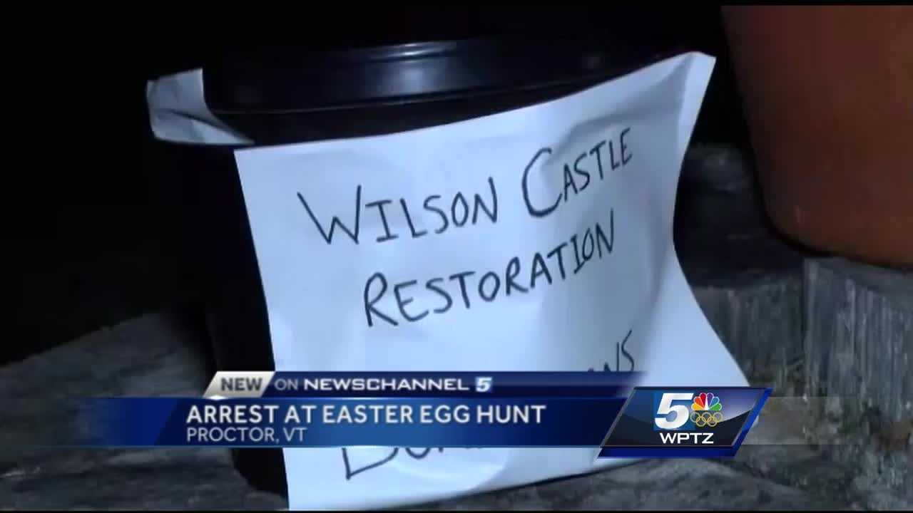 Easter egg hunt fundraiser for Wilson Castle turns chaotic when 1,000 more people show up that expected.