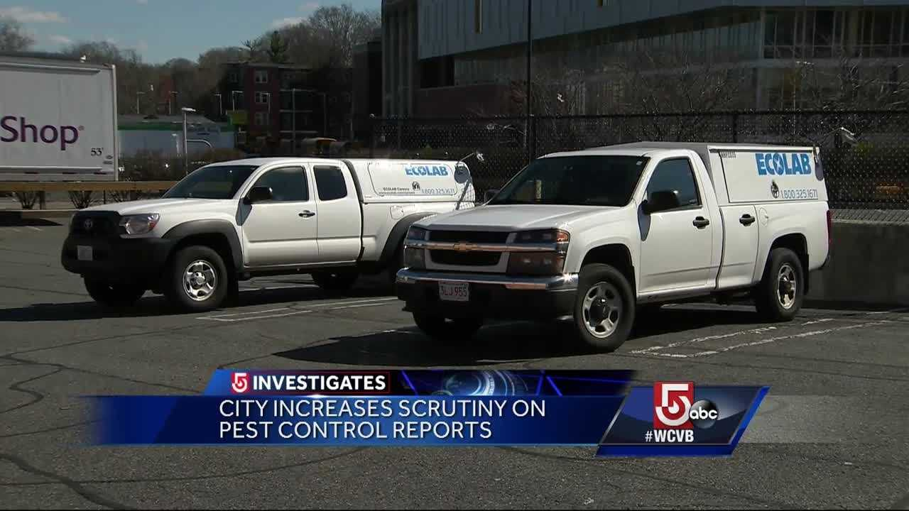 The pest control company in charge of services at a Stop & Shop that was closed by the city of Boston is reviewing what went wrong.