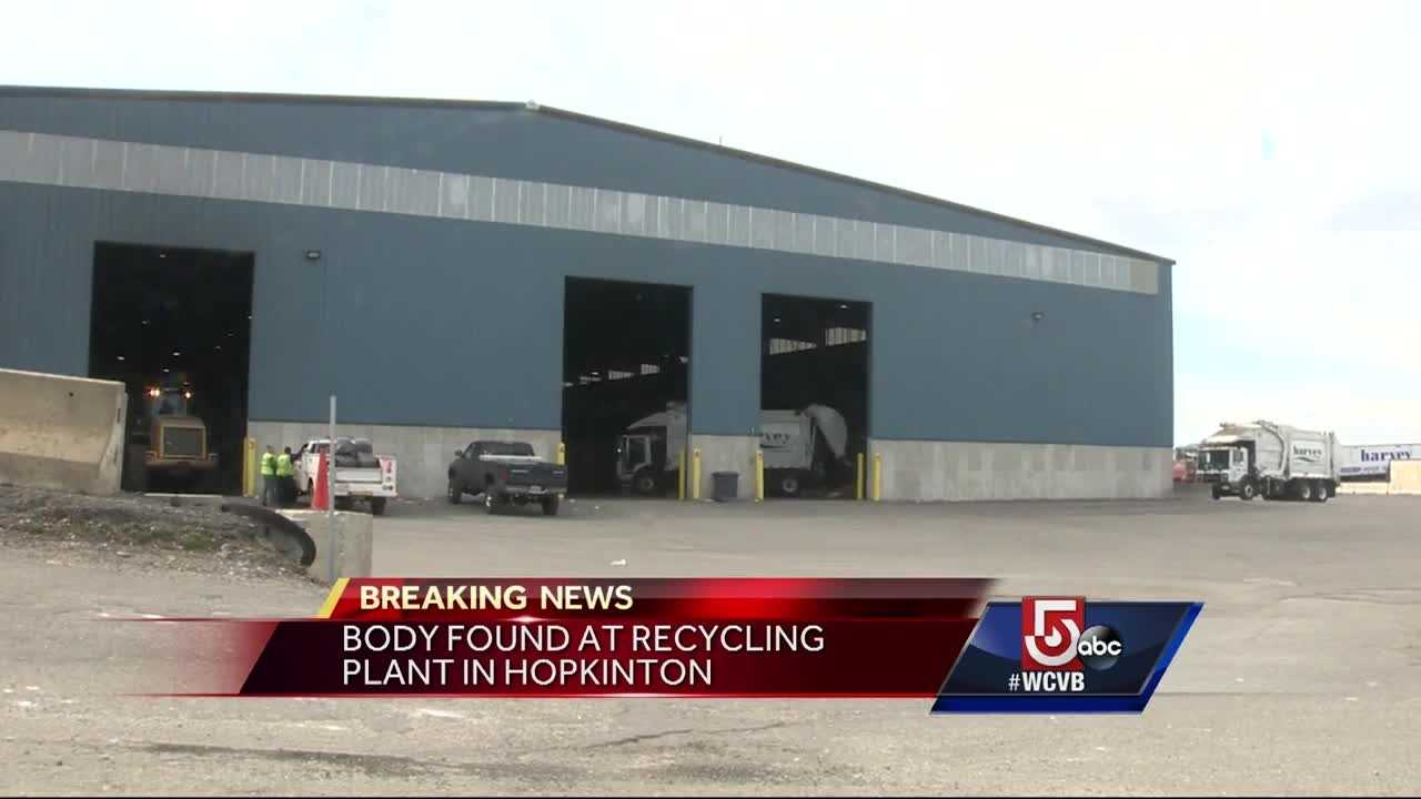 Police are investigating after a body was found at a municipal recycling center in Hopkinton on Thursday morning.