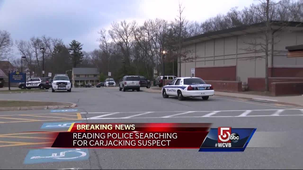 Police are still searching for a carjacking suspect in Reading.