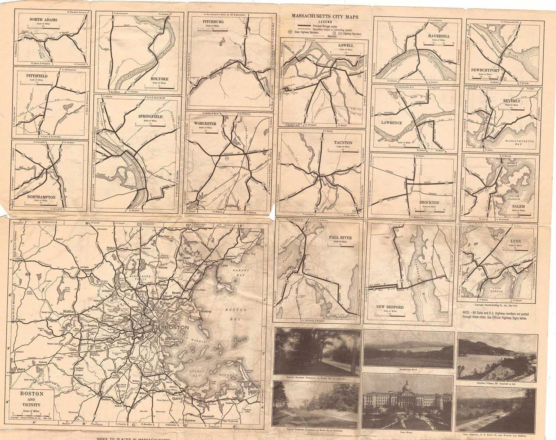 Historic Massachusetts Maps - Road map of massachusetts