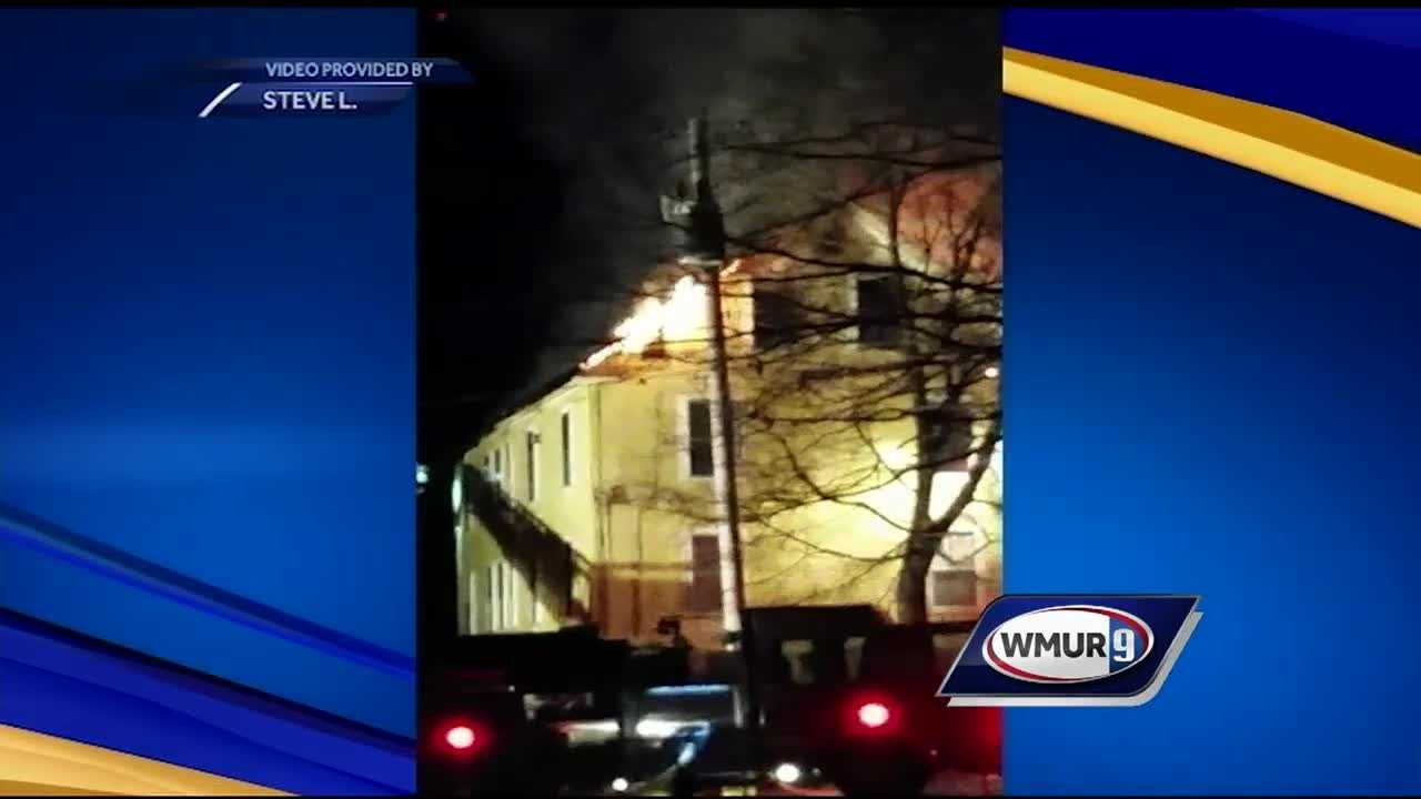 Three people were displaced after a three-alarm fire in Troy started Saturday night.