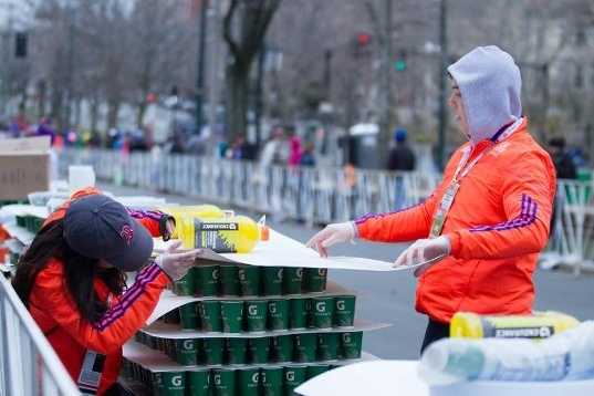 The marathon is long, treacherous and can quench one's thirst. That's why about 35,000 gallons of water will be made available to the runners.