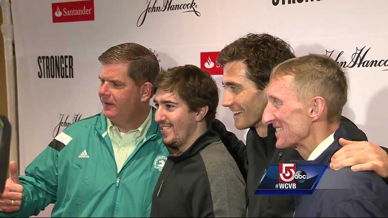 On the eve of the Marathon, Boston Medical Center's pasta dinner hosted Jeff Bauman and Jake Gyllenhaal, who is portraying the bombing survivor, in a new movie named after the Bauman's book: Stronger