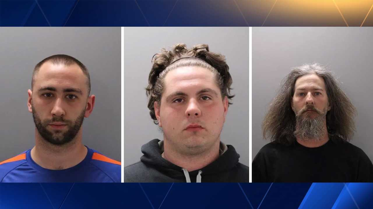 Jeffrey Riley, Anthony Perkins-Brainard and Kevin Hardy were all arrested for felony riot by Bedford Police. They were three of eight people arrested by Bedford Police for allegedly creating a riot situation outside of a residence on Friday night.