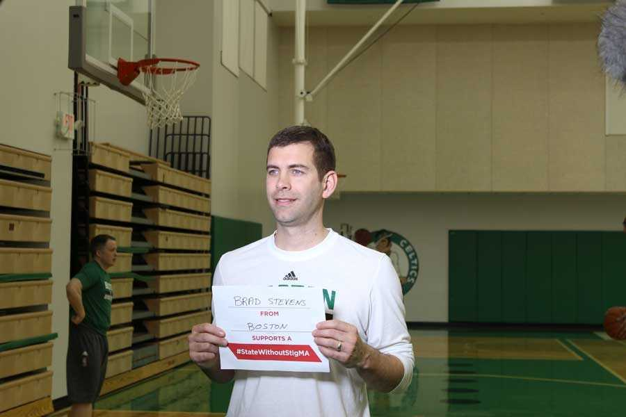 Celtics head coach Brad Stevens took the pledge