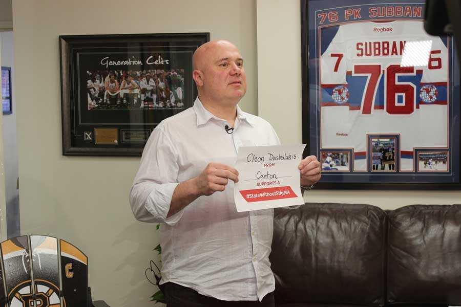 Boston University hockey goaltender Cleon Daskalakis took the pledge