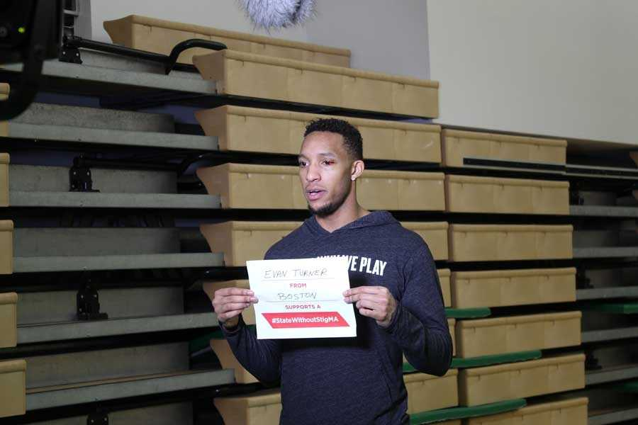 Celticsshooting guard/small forward Evan Turner took the pledge