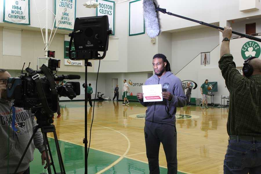 Celtics small forwardJae Crowder took the pledge