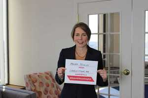 Attorney General Maura Healey took the pledge