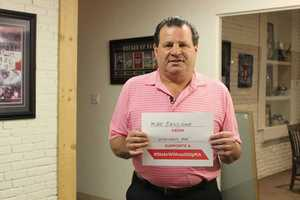 1980 Olympic hockey team captain and gold medal winner Mike Eurizone took the pledge