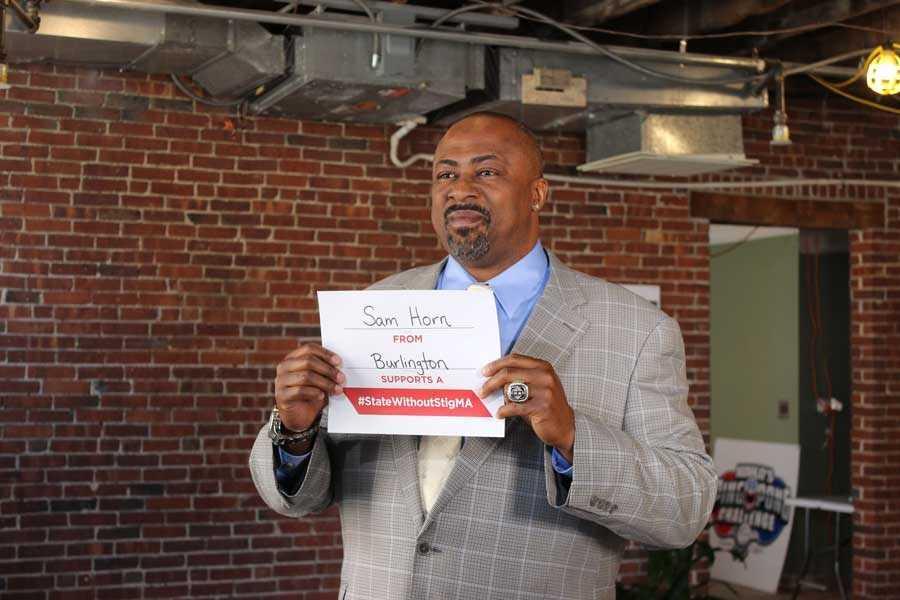Former Red SoxFirst baseman/Designated Hitter Sam Horn took the pledge