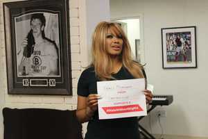 Actress, model, and television personality Traci Bingham took the pledge