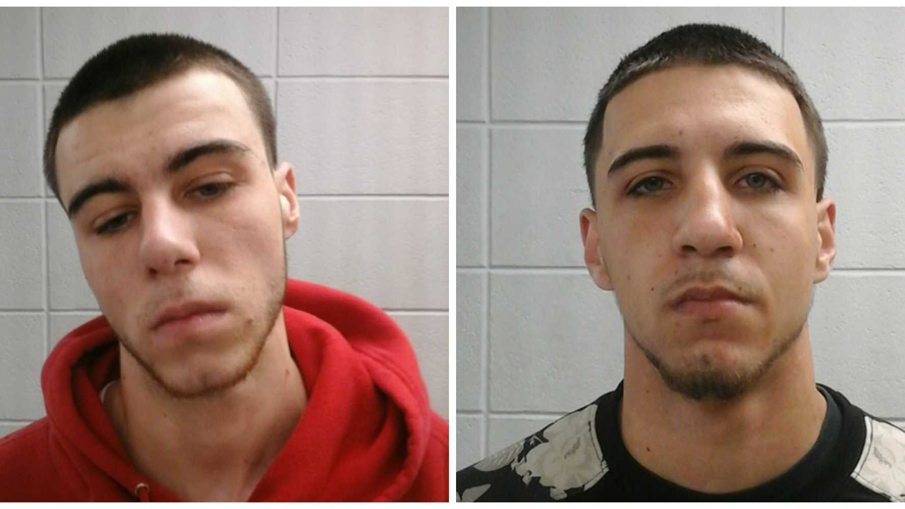 Michael Gill, 19, left and Robert Gill, 21, right