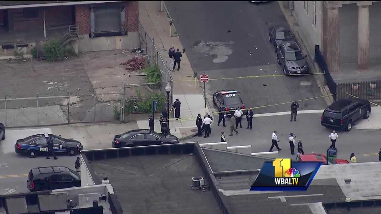 Baltimore City police are on the scene of an officer-involved shooting. Police said an officer shot a 13-year-old boy just after 4 p.m. in the unit block of Aisquith Street. Baltimore police Commissioner Kevin Davis said the boy was holding a replica semiautomatic pistol and tried to run when approached by officers.