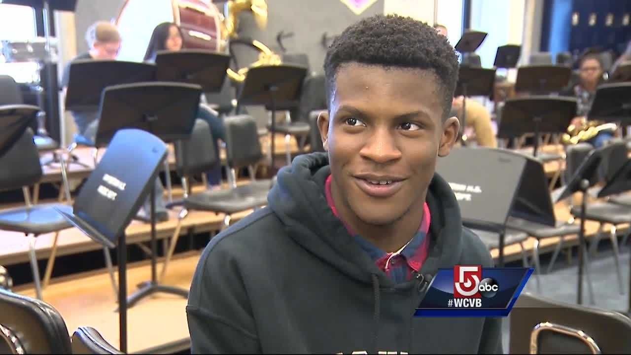 Obinna Igbokwe plays the baritone horn in the Brockton High School concert band, but he is not the type to play up the seven Ivy League college acceptance letters he got in the mail.