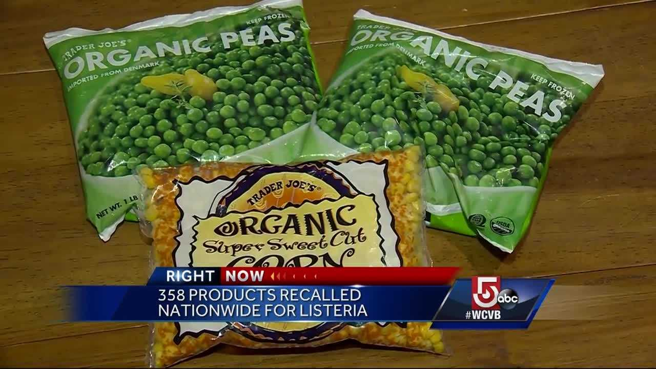 Hundreds of frozen food products are being recalled due to Listeria concerns, including products sold in Massachusetts.
