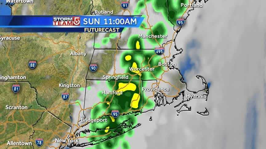 Mother's Day forecast: few showers, but some sun for part of the day