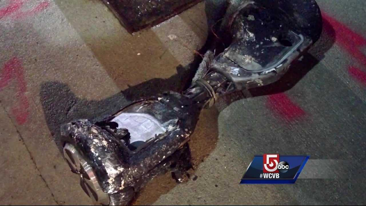 The family said the hoverboard was plugged in when they heard explosions and the hoverboard burst into flames.