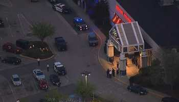 Two people were stabbed at the mall, police said.