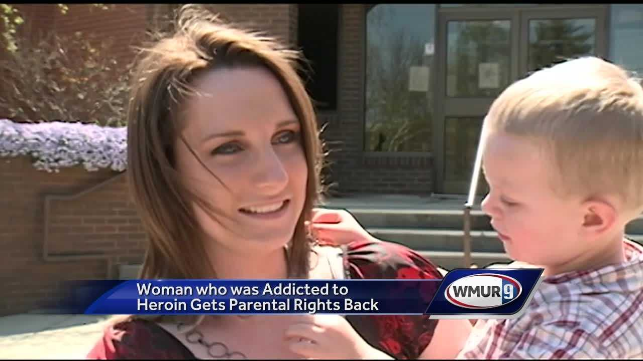 As New Hampshire battles a growing drug epidemic, there are some stories of hope, including a Salem mother who fought to get clean and got her parental rights back Wednesday.