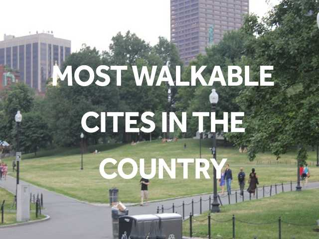 Find out where Walk Score ranked Boston on their ranking for most walkable cities in the country.