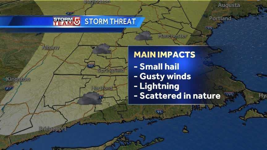 Afternoon thunderstorm threat