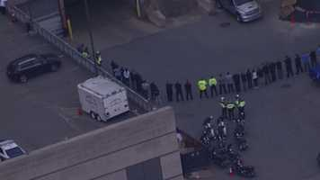 The procession started at UMass Memorial Hospital in Worcester