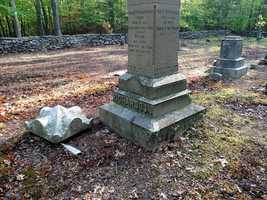 Uxbridge police are searching for the vandals who damaged headstones in a town cemetery.