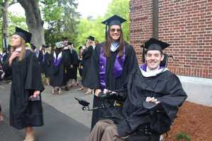 Matt Brown receives college degree from Stonehill six years after his paralyzing injury