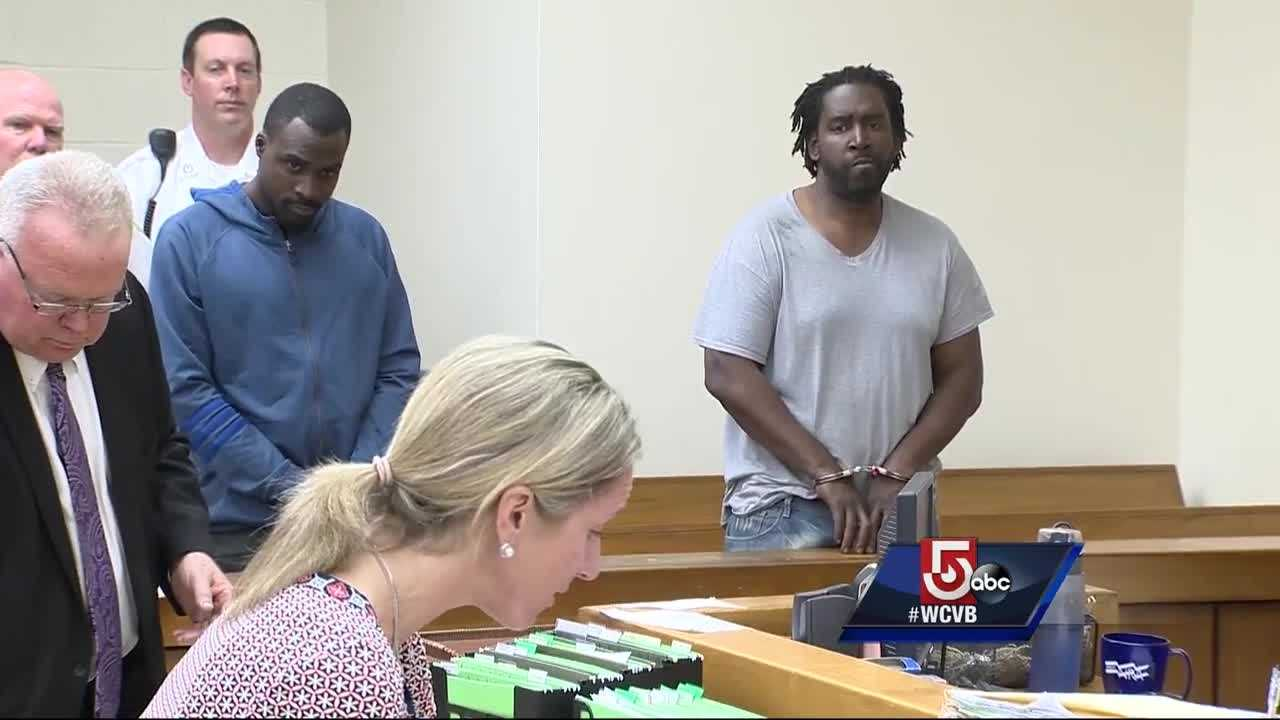 Two men were in a Quincy courtroom Tuesday after they were accused of leading police on a wild chase after a bank robbery.