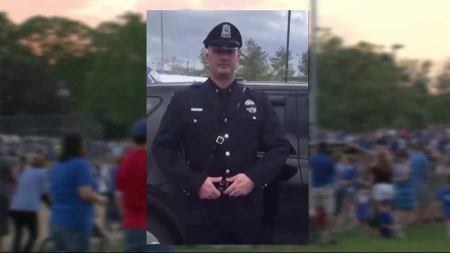 A community is paying its final respects to Auburn Officer Ronald Tarentino Jr.