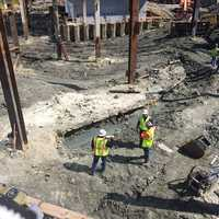 A shipwreck from the 1800s has been uncovered during construction in Boston's Seaport District.