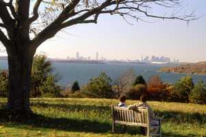 World's End: With 4.5 miles of trails, this Hingham conservation area offers a breathtaking view of downtown Boston, along with being near Weir River and Hingham Harbor. Location: Martins Ln, Hingham, MA 02043