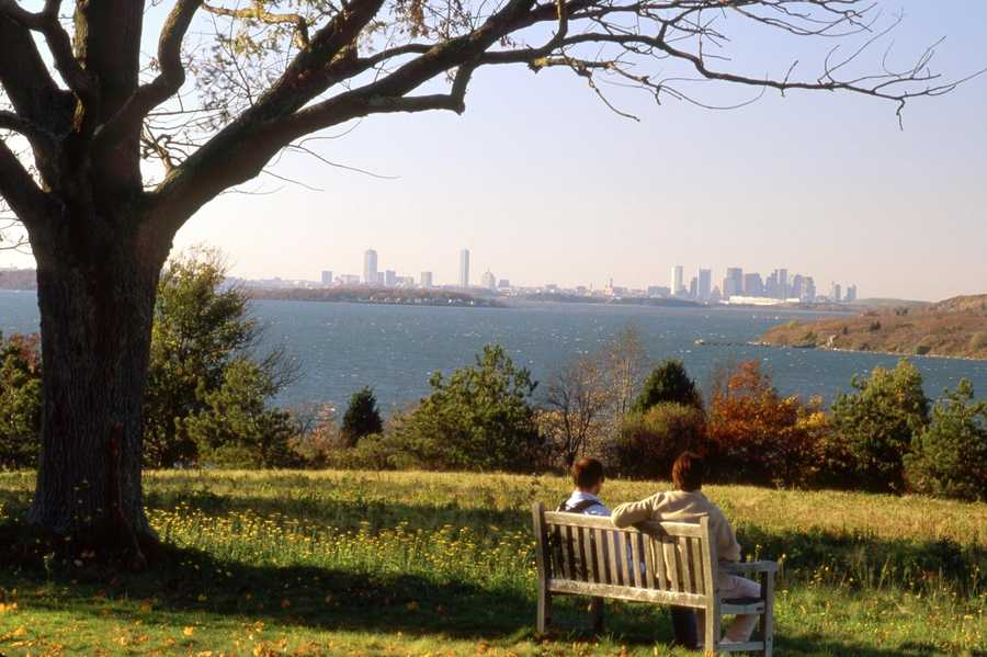 World's End: With 4.5 miles of trails, this Hingham conservation area offers a breathtaking view of downtown Boston, along with being near Weir River and Hingham Harbor. Location:Martins Ln, Hingham, MA 02043