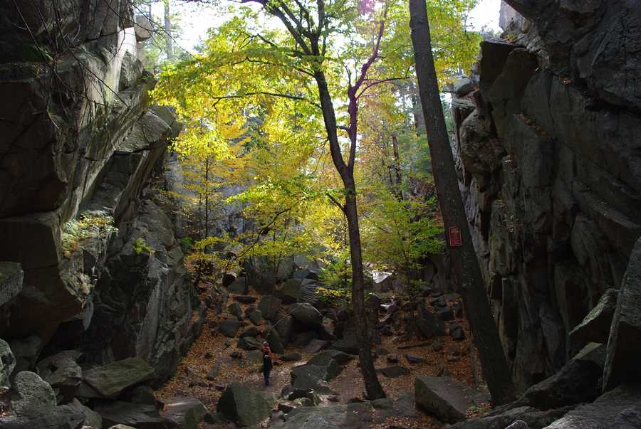 Purgatory Chasm: Popular with picnickers and rock-climbers, Purgatory Chasm is a moderate to difficult hike for those adrenaline-rush seekers. Don't hike the chasm after inclement weather. Location:198 Purgatory Rd. Sutton MA 01590
