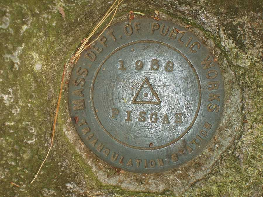 Mount Pisgah: It is the highest point in Northborough and two trails, Tyler and Summit trails, will lead you to this summit marker. Location:19 Smith Rd, Northborough, MA 01532