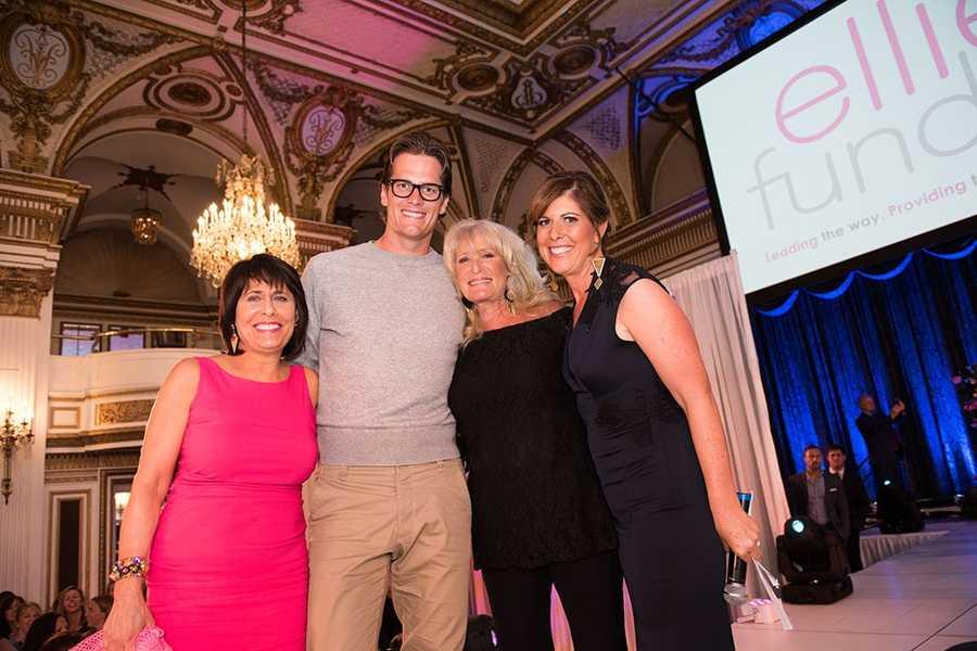 Gail Fine, Tom Brady, Susan Wornick and Kelley Tuthill