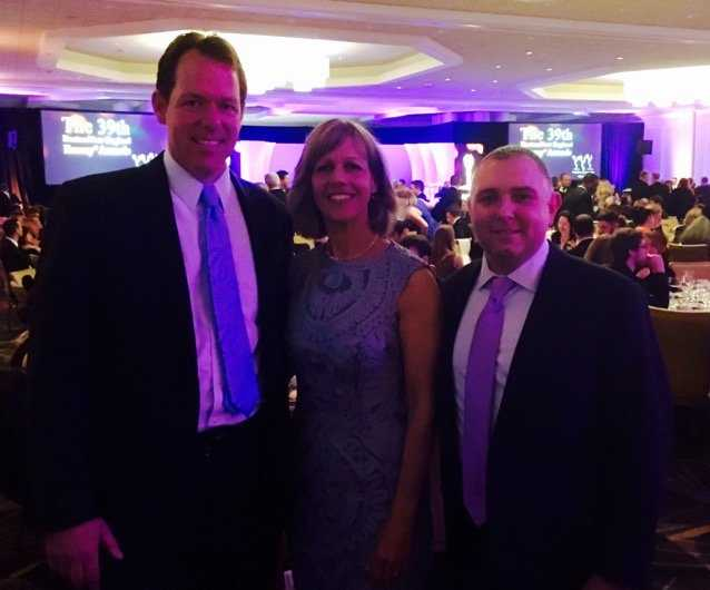 5 Investigates' Mike Beaudet, Kathy Curran and David Hurlburt at the New England Emmys.