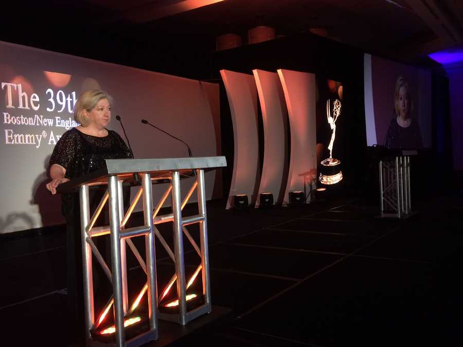 President of The National Academy of Television Arts & Sciences, Boston/New England Ro Dooley speaks at the Emmys about a record turnout. Dooley is also NewsCenter 5's Director of Programming and Communications.