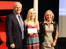 Molly Murphy of Leicester accepts A+ scholarship